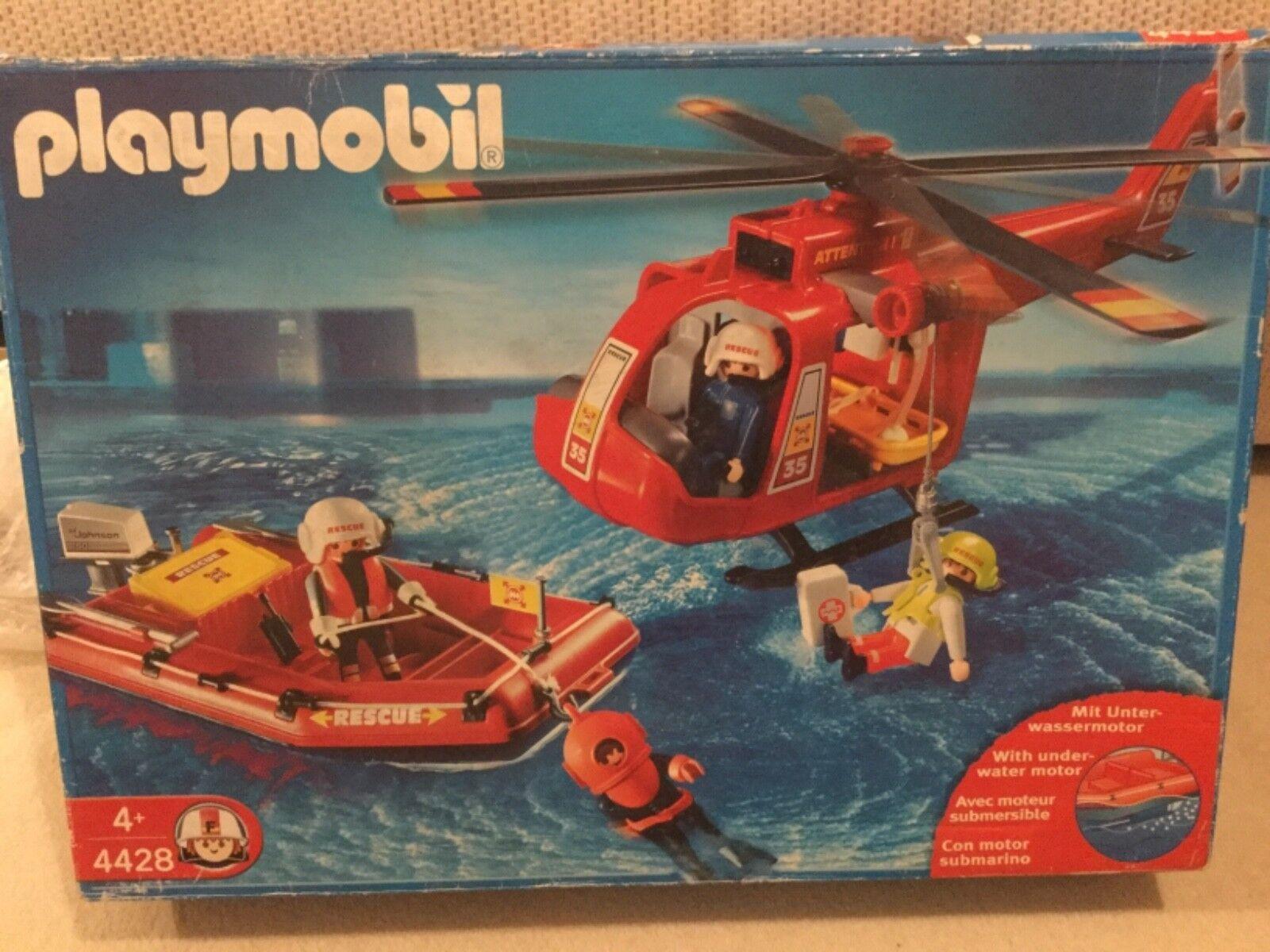 PLAYMOBIL 4428 Elicottero soccorritori COMPLETO   i nuovi marchi outlet online