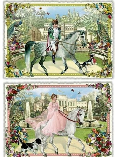 *EDITION TAUSENDSCHÖN*Postkarte*Glitzer*Prinz*Prinzessin*10x15cm*