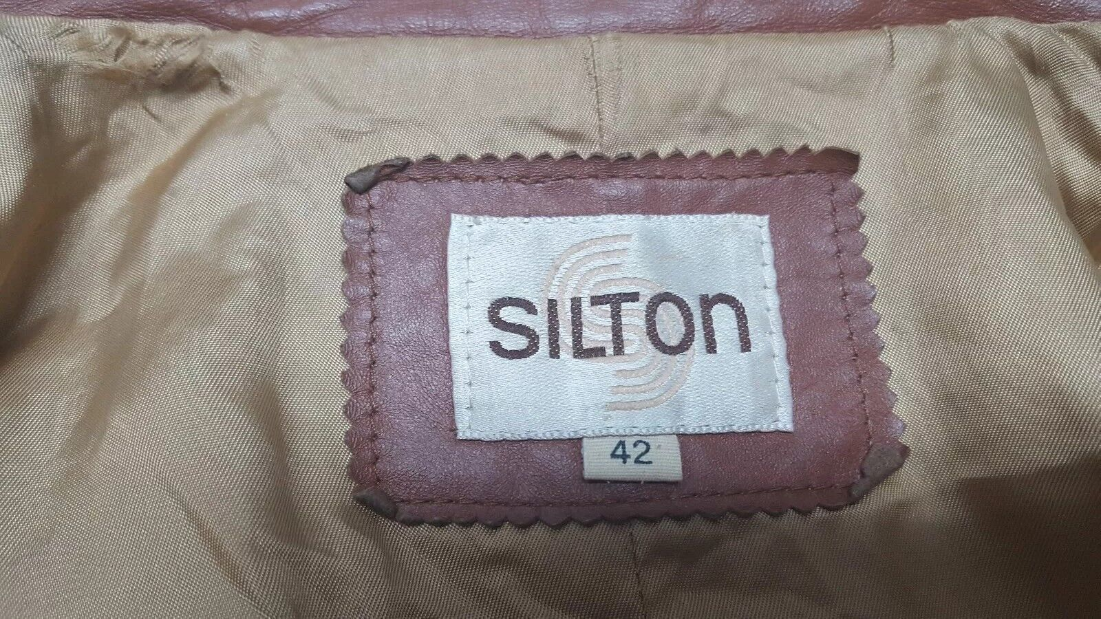 SILTON  Brown Leather 70s  Blazer Sport Coat Siz… - image 7