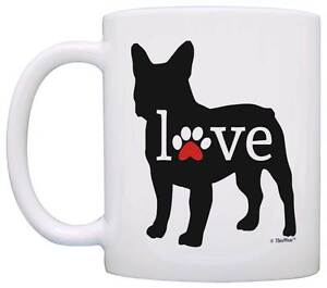 Image is loading French-Bulldog-Gifts-Love-Dog-Paw-Prints-Dog-