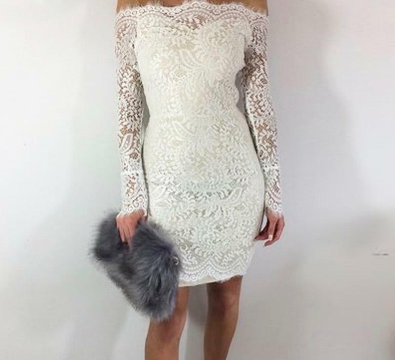 Farren  Off-the-Shoulder Lace Dress