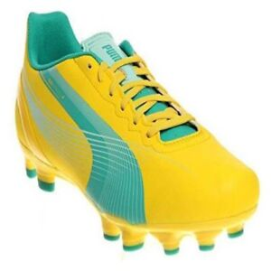 NEW Puma Womens Evo Speed 4.2 FG Soccer Cleats Yellow and Green  24a97fdf4