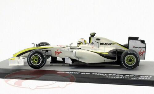 Brawn GP Mercedes Barrichello 1:43 escala F1 Coche de Juguete Modelo de Fórmula Uno en miniatura