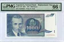 1991 P-110 Nikola Tesla VF-Circulated Yugoslavia 1000 Dinara