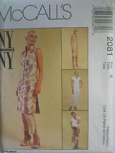 UNCUT-SEWING-PATTERN-MCCALL-039-S-2081-SIZE-6-DRESS-TOP-SARONG-PANTS-V-NECKLINE-DART