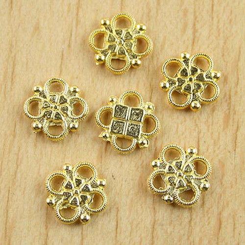100pcs Gold tone lucky knot connectors h0229