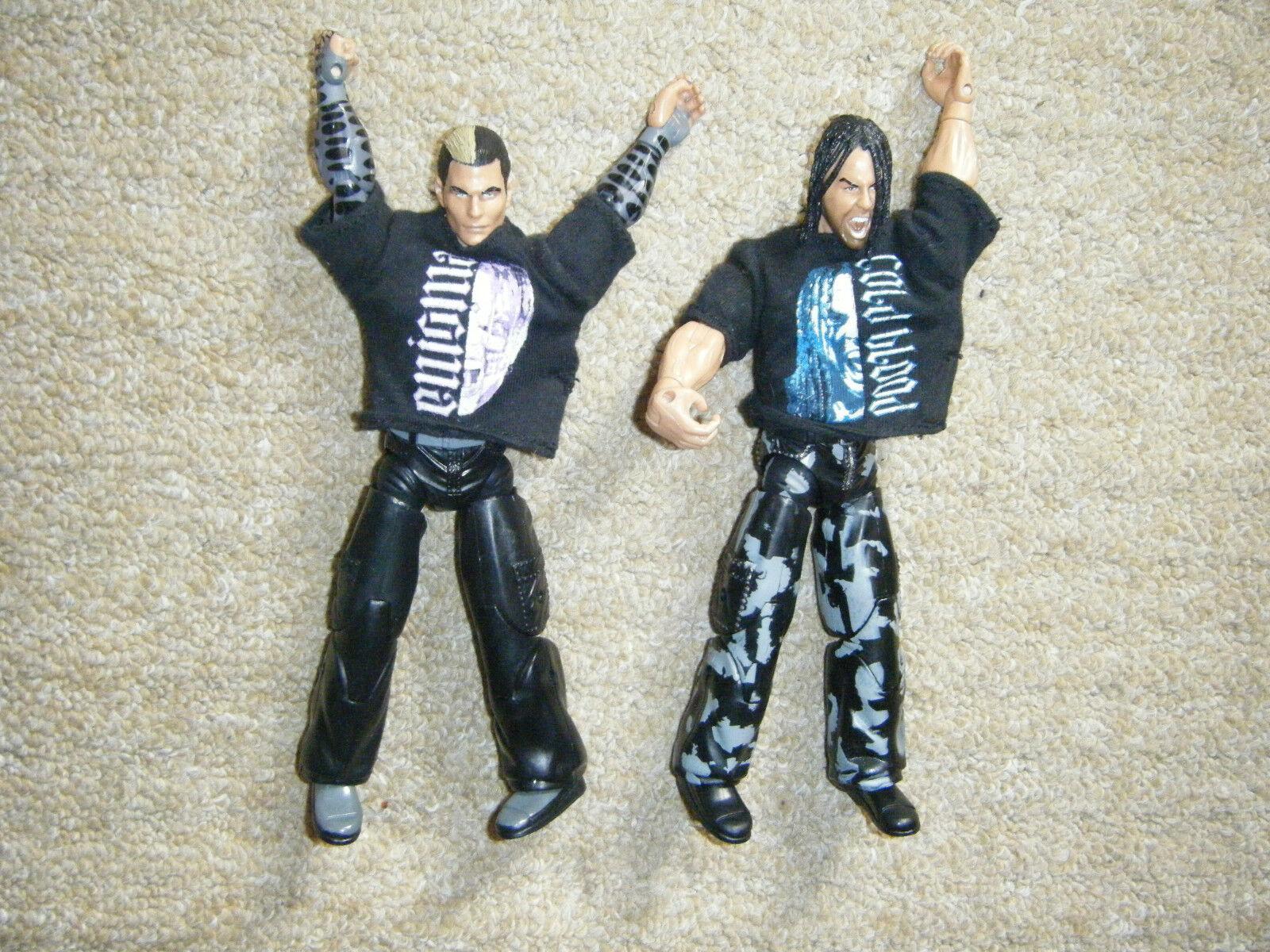 Jeff Hardy Matt Hardy Ringside Limitierte Auflage Tna Deluxe Wrestling-Figur Wwe