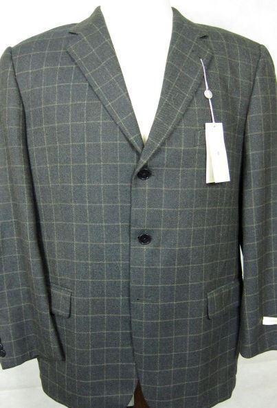 Nwt Joseph Abboud Grau 4Season Wolle Sport Mantel Blazer 42R