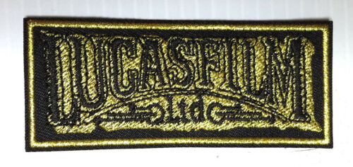 "Star Wars Lucasfilm Ltd Gold Thread Logo 3.5"" PatchUSA Mailed SWPAFC49"