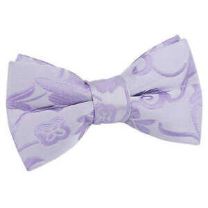 Boys-Bow-Tie-Woven-Floral-Lilac-Formal-Kids-Child-Adjustable-Pre-Tied-by-DQT