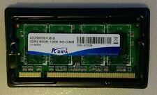 1 GB PC2-6400 (DDR2-800) DDR2 SDRAM, 800 MHz, SODIMM.