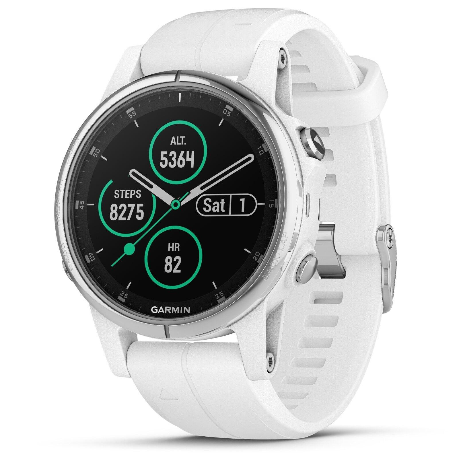 Garmin Fenix 5S Plus Sapphire Sapphire Sapphire GPS Watch Weiß w/ Carrara Weiß Band 010-01987-00 c1dc96
