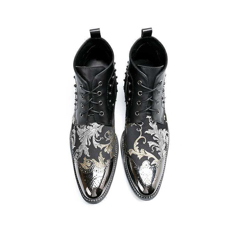 Uomo Fashion Fashion Fashion Pointy Toe Lace Up Rivet Oxford scarpe Party Youth Leather scarpe 2e26fe