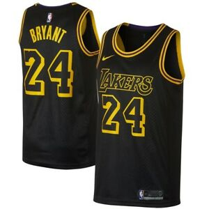 timeless design 24431 68b4b KOBE BRYANT LA LAKERS BLACK MAMBA CITY SWINGMAN #24 JERSEY ...