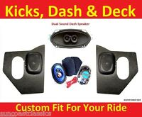 1962-65 Nova Chevy Ii Ht Kick Panels W/ Speakers + Dash & 6x9's For Stereo Radio