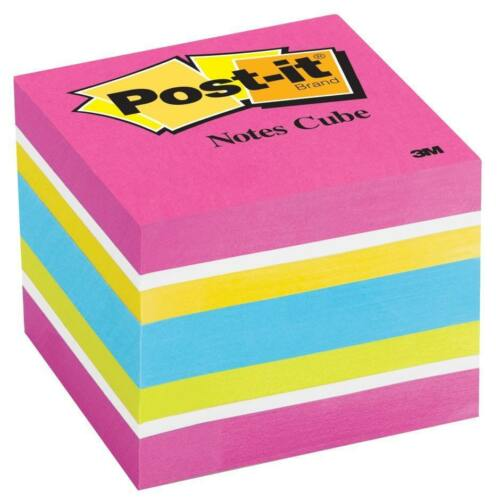 """Assorted Neon /& Ultra Colors    #AD Details about  /Lot of 16 Pack 3M POST-IT NOTES CUBES 3x3/"""""""