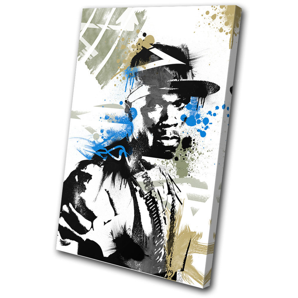 Musical 50 Cent Grunge Abstract SINGLE TOILE murale ART Photo Print