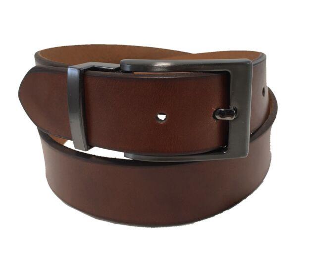 42d492b33f4 Men's Genuine Leather Belt w/ Removable Polished Gun Metal Buckle!!