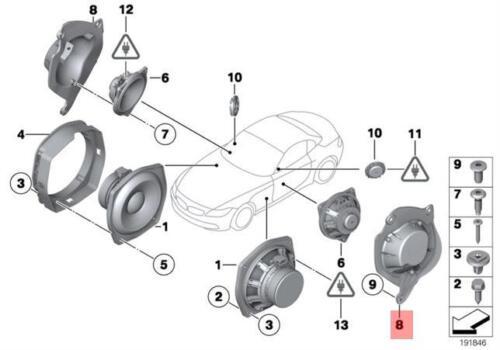 Genuine BMW E89 Roadster Adapter plate Speaker Right OEM 65139175488