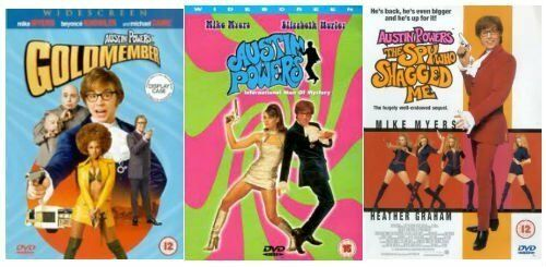 AUSTIN POWERS Trilogy DVD Collection Part 1+2+3 Set + Extra All Films Movies New