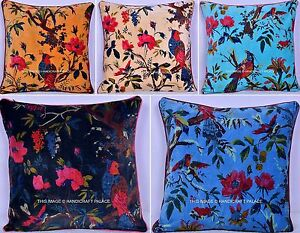 100-PCs-Wholesale-Lot-Velvet-Bird-Print-Bohemian-Throw-Pillow-Cushion-Cover-16-034