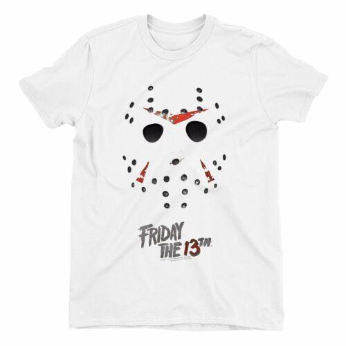 Friday The 13th  Jason Mask Children/'s Unisex White T-Shirt