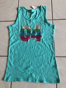 Justice-Tank-Top-Exciting-Sequin-Design-Size-18-Junior-S-M-NWT