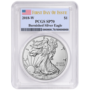 2018-W Burnished Silver Eagle PCGS SP70