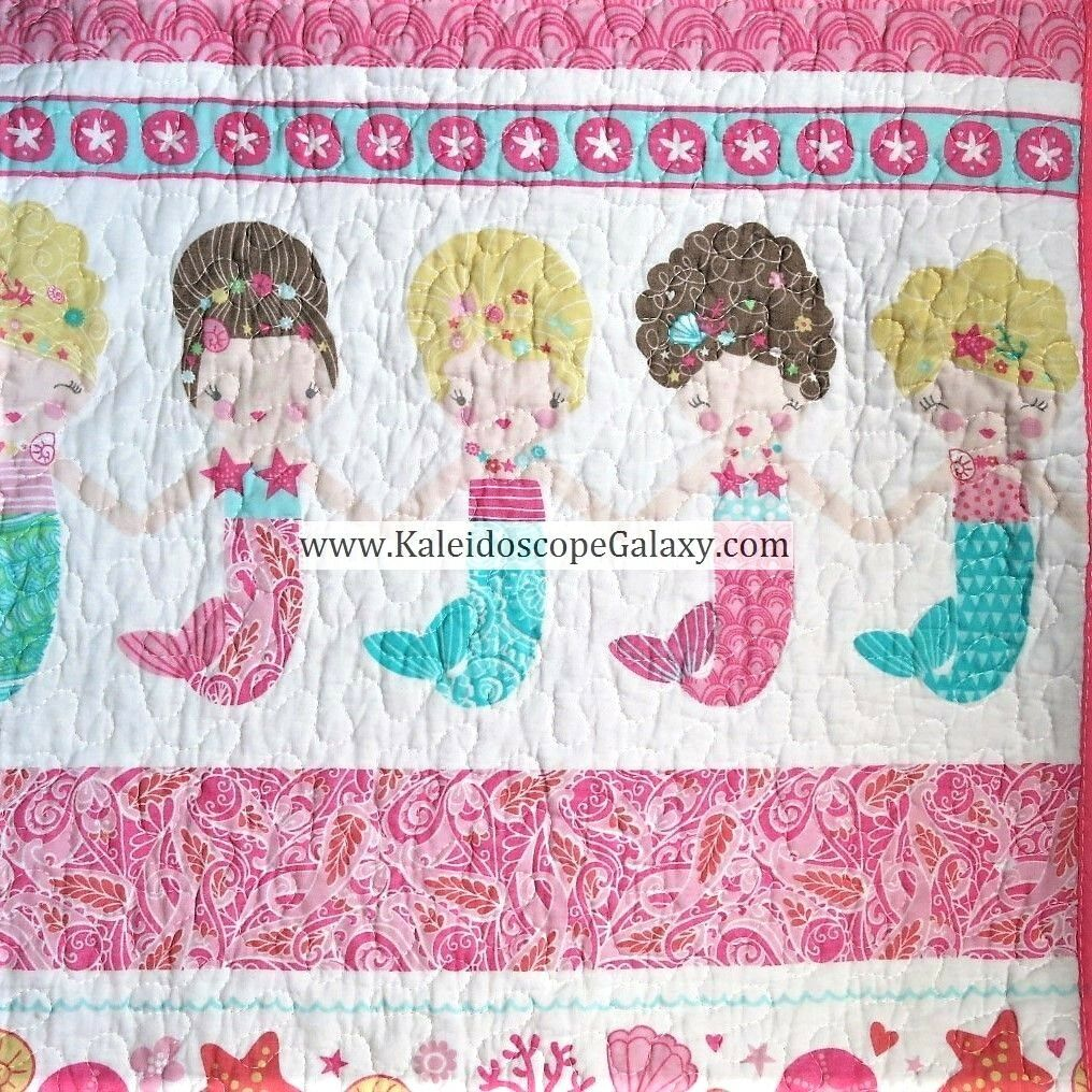 Mermaid Twin Quilt  5pc sirènes Literie  feuilles  Throw Pillow  adorable