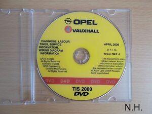 Werkstatthandbuch-CD-Opel-TIS-Agila-Zafira