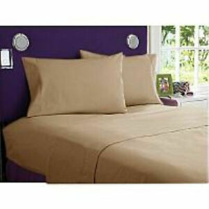 HOTEL-QUALITY-1000TC-Egyptian-Cotton-Beige-Solid-King-Single-Three-Quarter-Queen