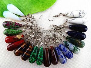 wholesale-20pcs-Beautiful-unique-mixed-color-stone-long-teardrop-earrings-H113
