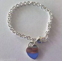 Krementz Sterling Silver Heart Charm Chain Bracelet
