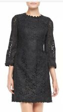 Kate Spade Lace 3/4 Sleeve Quinn Little Black Dress with Back Bow Sz 4 $498