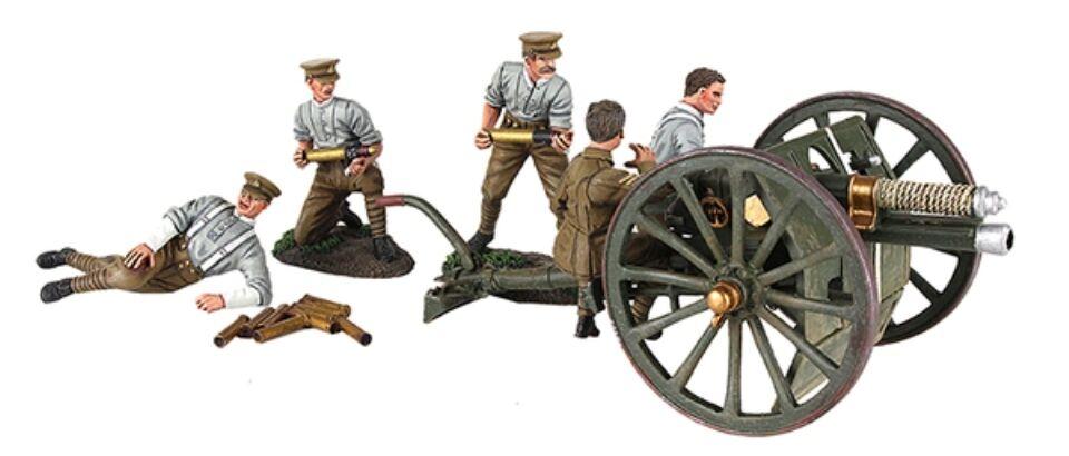 Britains Weltkrieg 1 23078 1914 Britisch 5.9kg Waffe Rha mit Fünf Mann Crew MIB