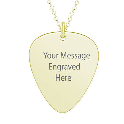 engraving as desired in 4 colors stainless steel with chain 60 cm New ID pendant Plektrum