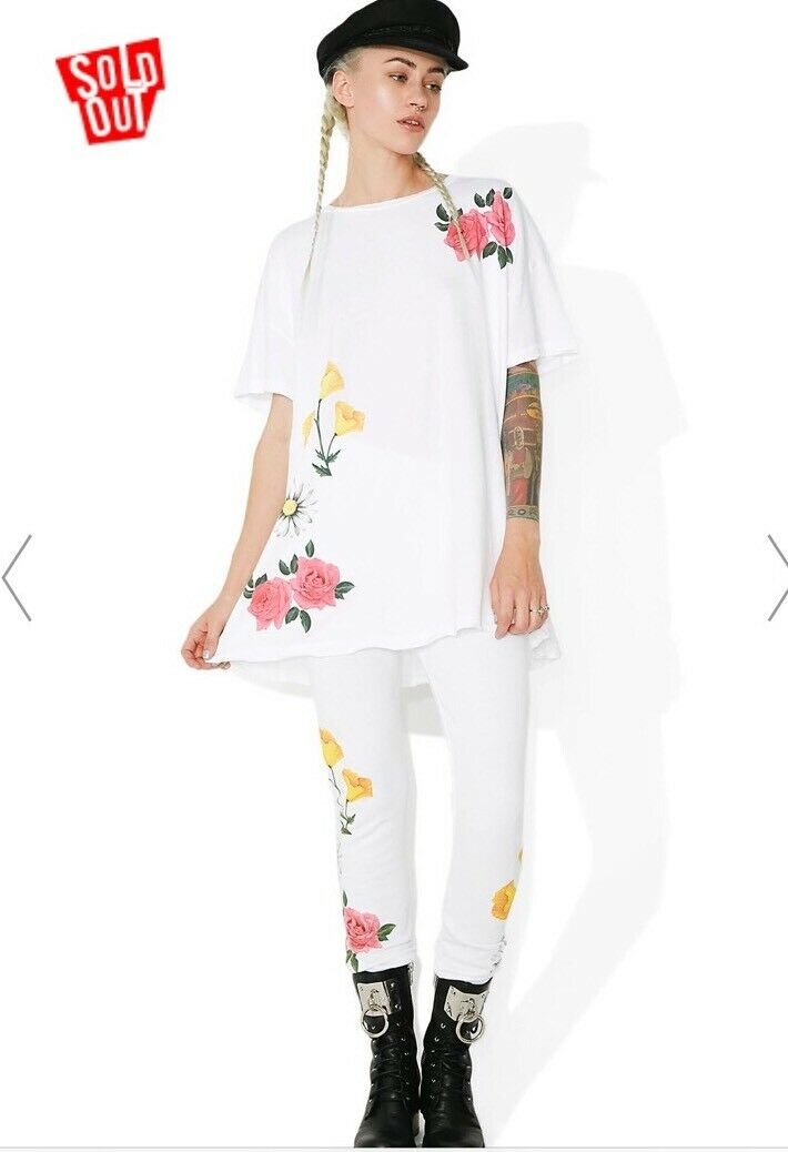 Wildfox Meadow Flowers Party Doll T-Shirt Dress NWT