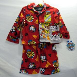 Paw Patrol Toddler Pajama Set 2 Piece Red Various Sizes Marshall Chase Rubble