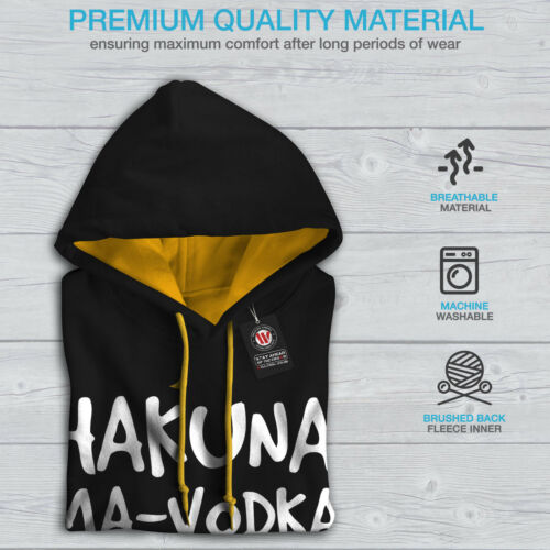 Black oro Felpa con Night cappuccio Men Vodka Hakuna contrasto cappuccio New a8qwPv