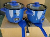 Dash 2 Piece Mini Rice Cooker Drcm100bu. Blue Color