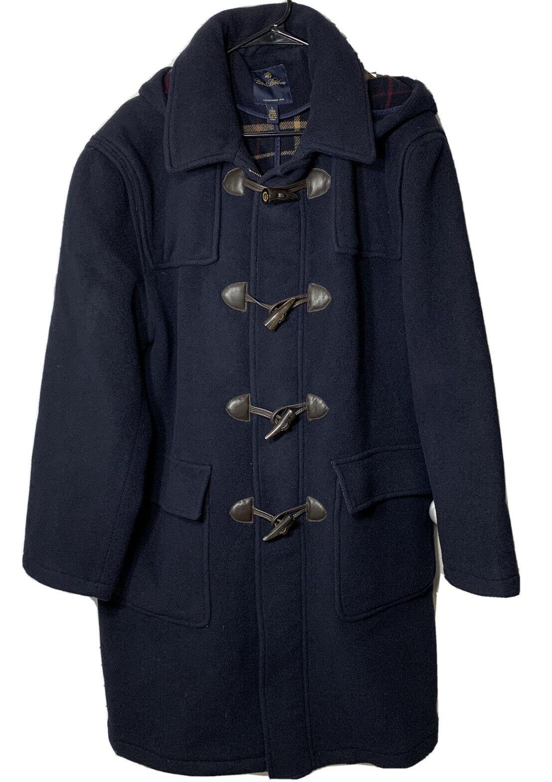 Brooks Brothers Navy Wool Duffel Coat Mens Size L… - image 1