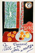 Original Vintage Travel Poster Nice by Henri Matisse 1947 Travail et Joie French