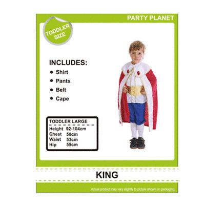 Party Supplies - Australia -King Fancy Dress Costume