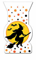 12 x Halloween Witch zip seal Trick Treat Loot Self Seal Party treat favour bags