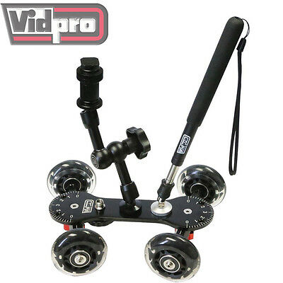 Vidpro SK-22 Professional Skater Dolly for Digital SLR Cameras &Video Camcorders
