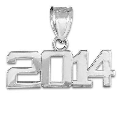 Sterling Silver CLASS OF 2014 Graduation Pendant Necklace Batch 2014 Graduates