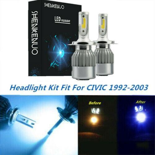 LED Headlight Kit H4 9003 8000K Ice Blue Hi//Low Bulbs for HONDA CIVIC 1992-2003