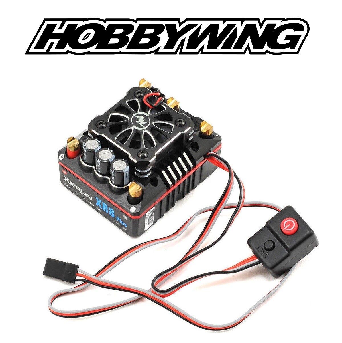 Hobbywing XERUN XR8 Plus Esc sin escobillas Sensorojo 2-6S 1 8 RC coche carro