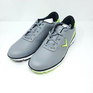 NEW Mens CALLAWAY Balboa SL Golf Shoes Spikeless Gray Green 13 D Medium