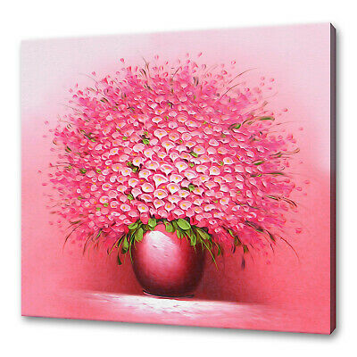 PINK PURPLE HEART CANVAS WALL ART PICTURE PRINT VARIETY OF SIZES FREE DELIVERY
